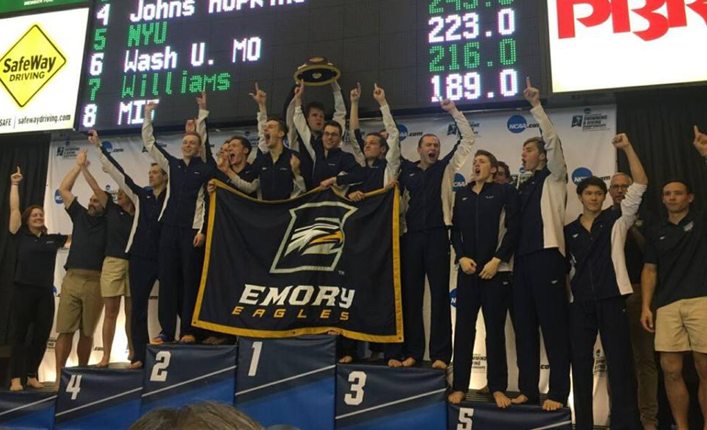 NATIONAL CHAMPIONS!! - Emory Men's Swimming & Diving Win First-Ever Team Title