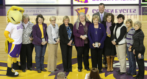 Pioneers in Tech women's athletics speak at forum on Title IX
