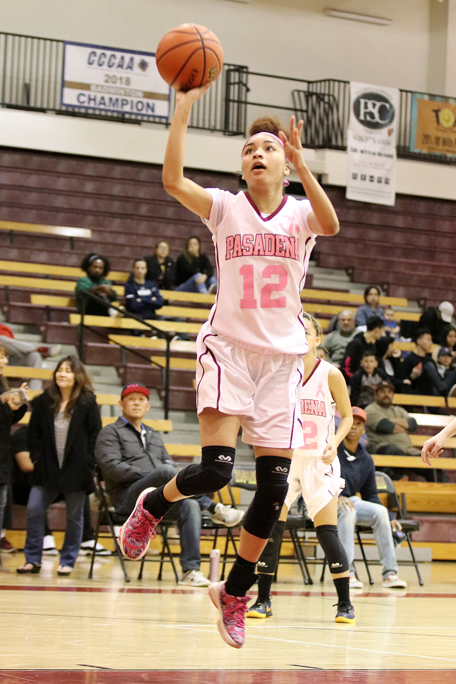 Daniela Mendez goes up for a layup in a recent Lancers game.