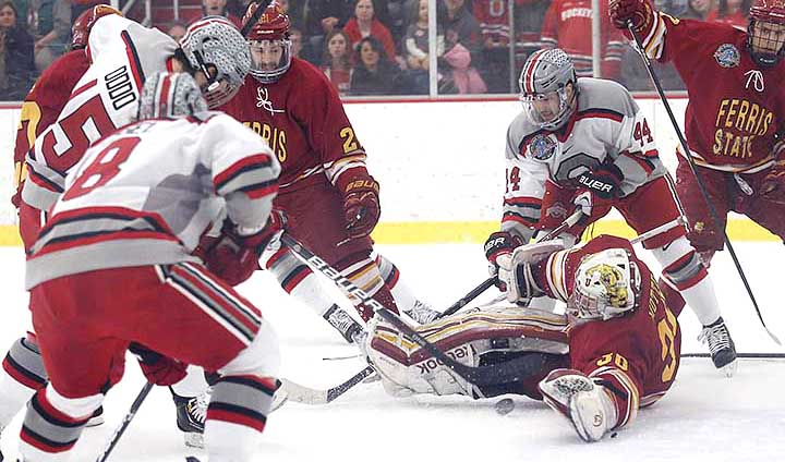 GAME THREE TONIGHT: Ferris State Hockey @ Ohio State With Trip To The Joe On The Line!