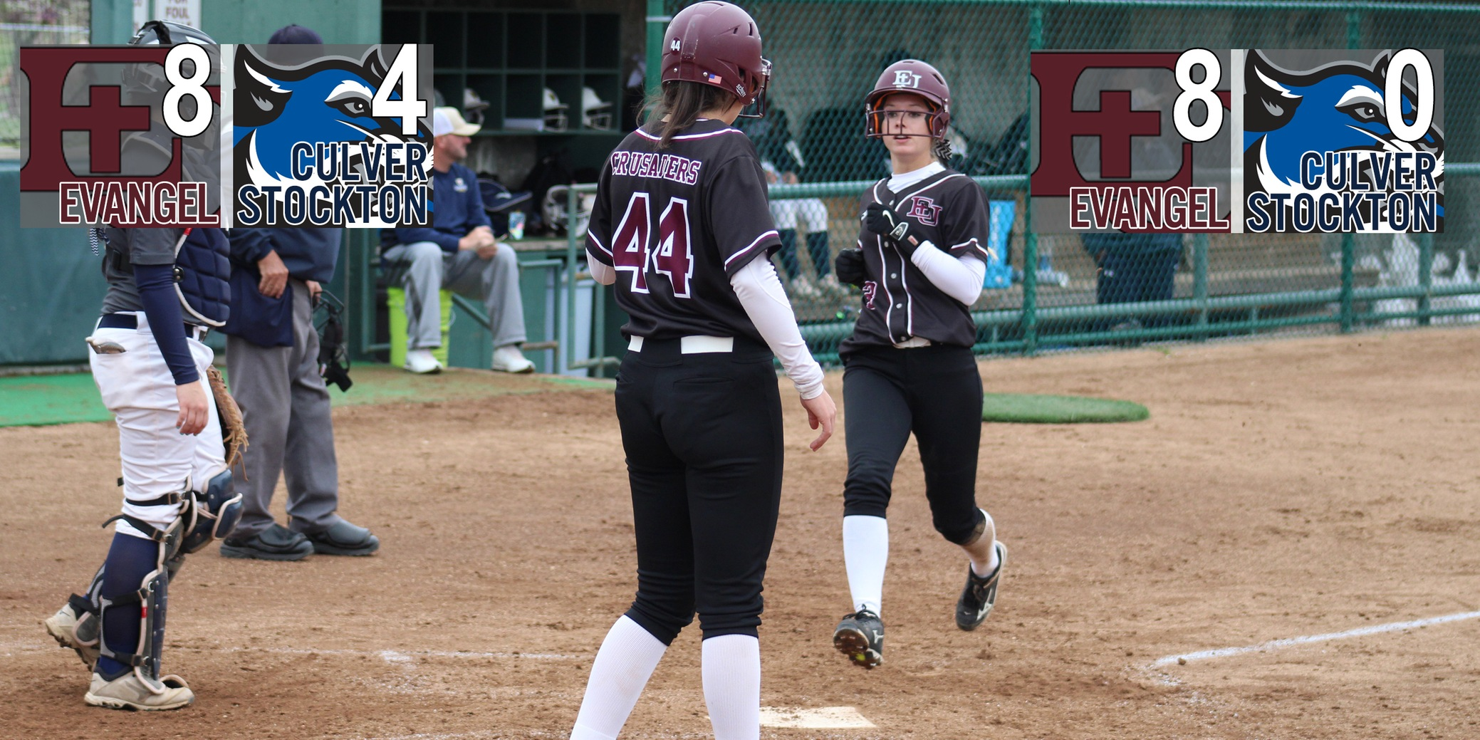 Evangel Softball Sweeps Past Culver-Stockton