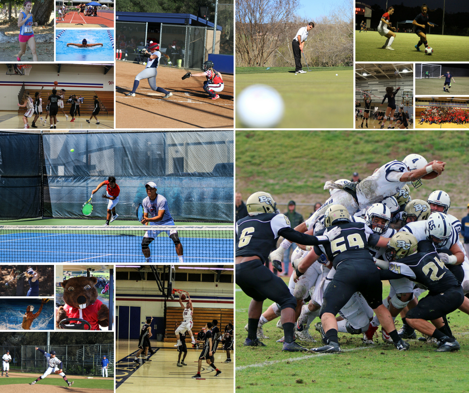 Picture collage of various ARC sports in action