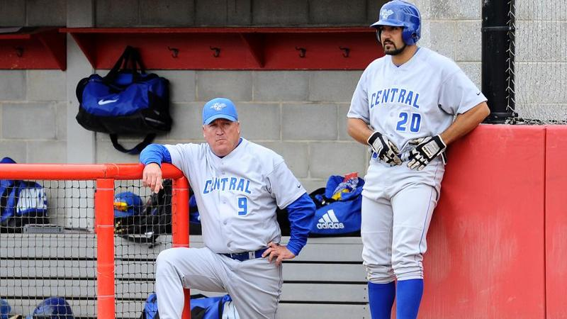 Baseball Tops UHart, Hickey Gets 500