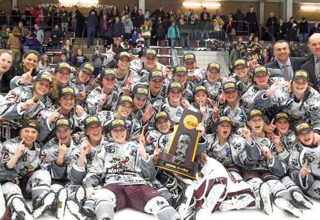 Women's Hockey: Norwich edges Elmira 2-1, wins 2nd NCAA Division III National Championship