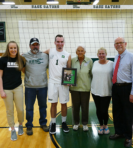 MacArthur Honored for Senior Night in Sage's 3-0 Win Over Bard