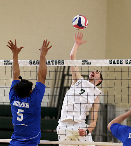 Sage Men's Volleyball Splits in Season Openers