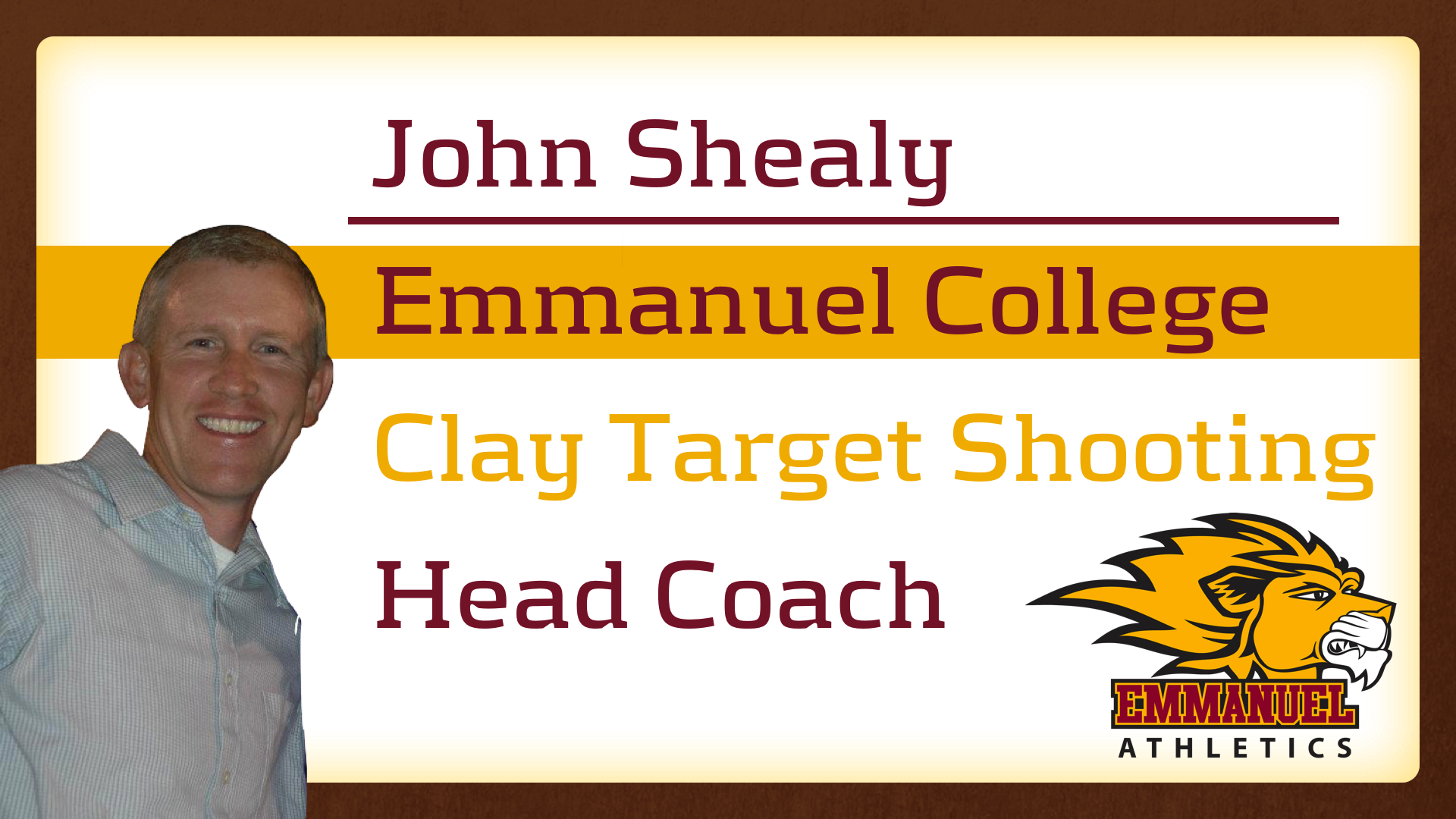 John Shealy to Lead Clay Target Shooting Program