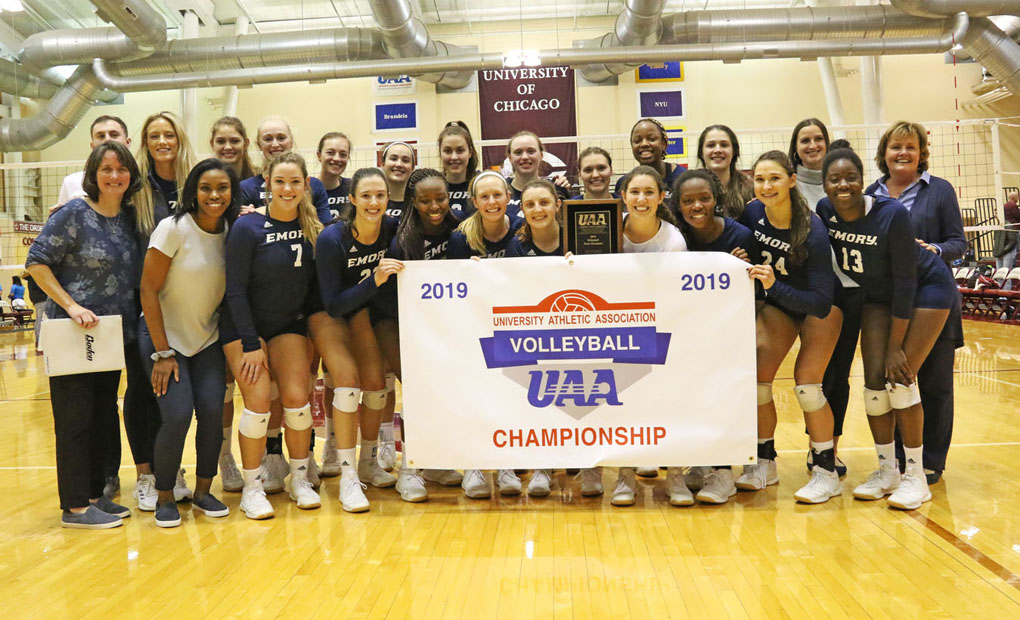 Emory Volleyball Repeats As UAA Champs !! -- Tops Chicago In 5-Set Thriller