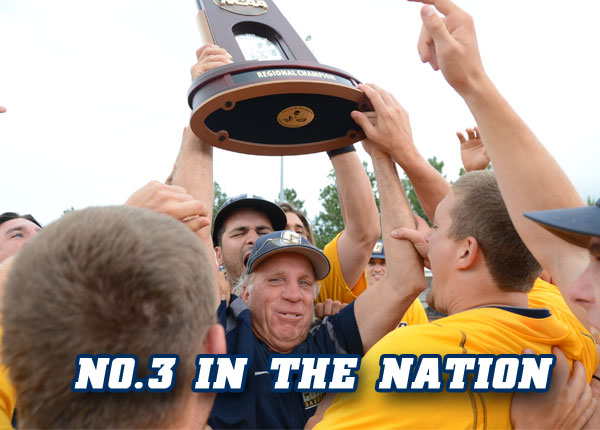 Coker Baseball Ranked No. 3 in the Nation