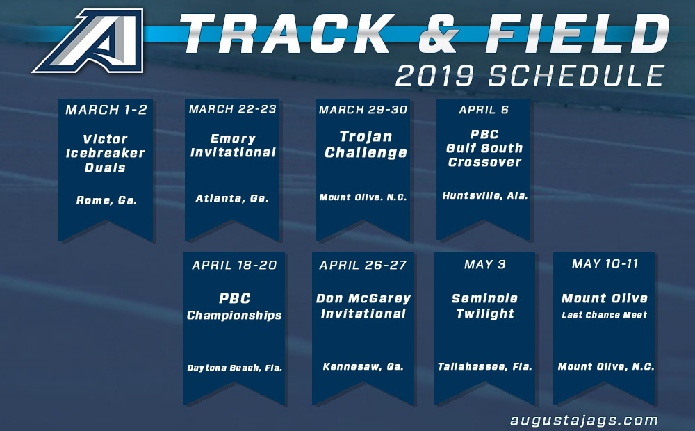 Augusta Track & Field Releases 2019 Schedules