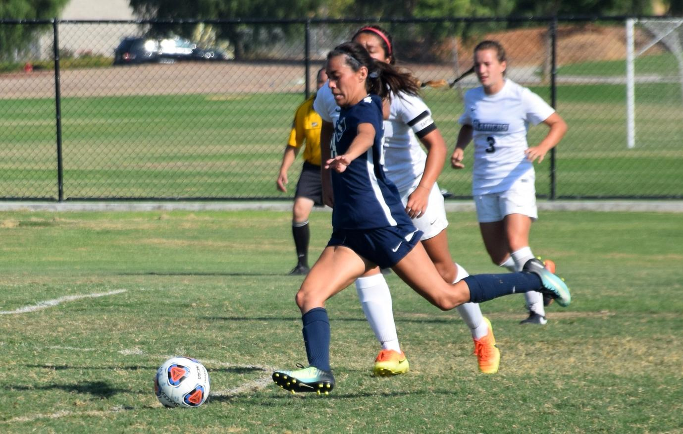 Women's soccer team falls in home opener to Moorpark