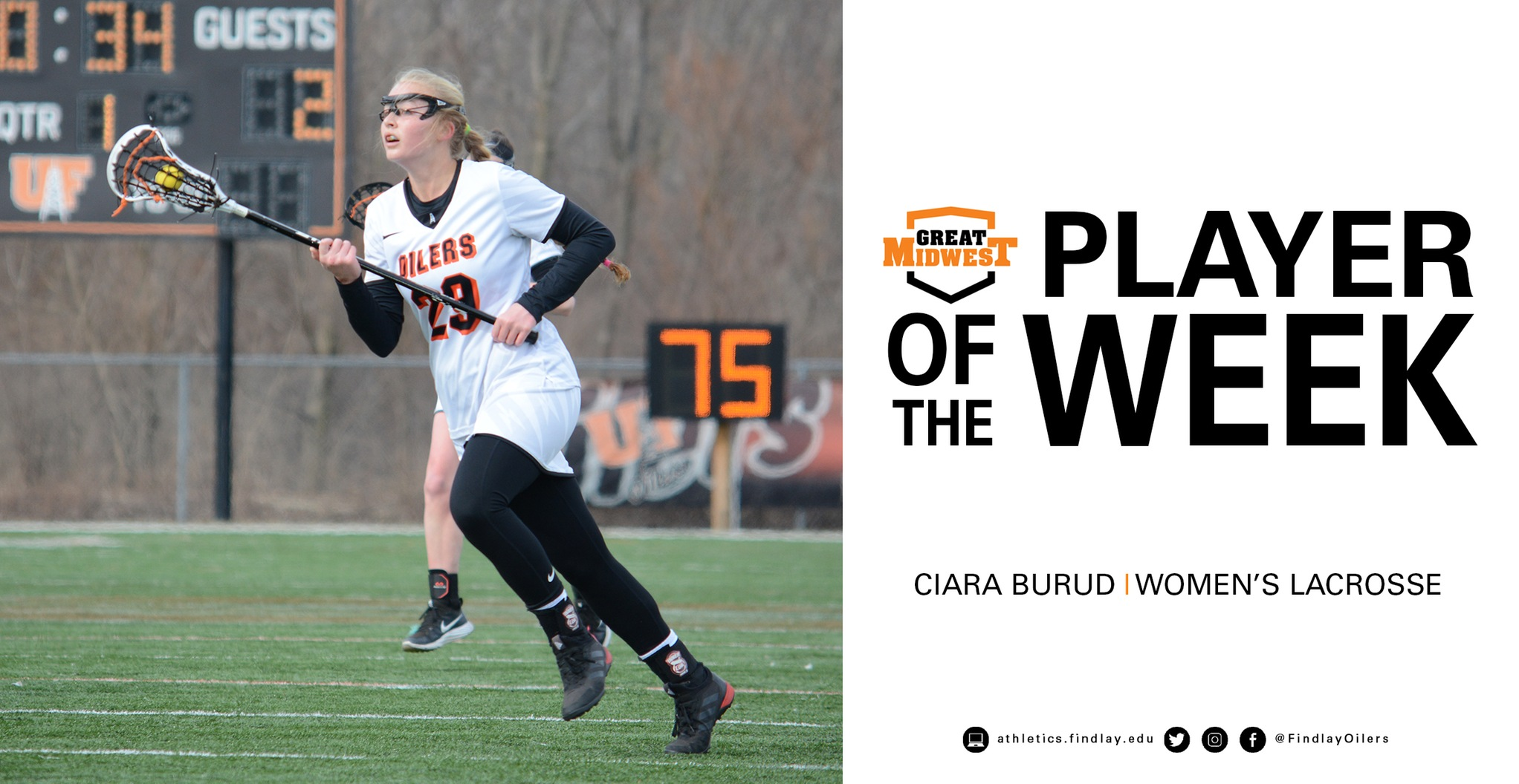 Burud Earns Weekly Honors from Great Midwest