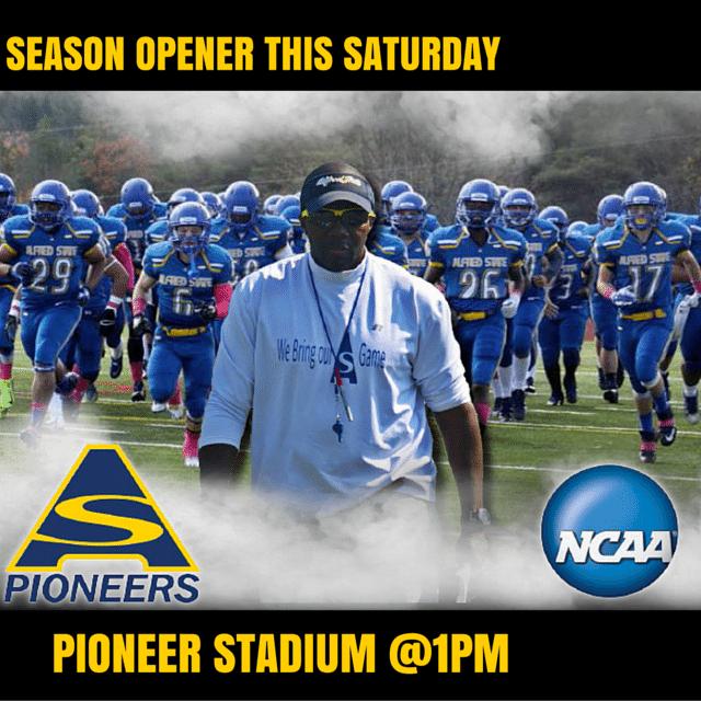 8956a8f3301 New Era of Pioneer Football Kicks off Saturday - Alfred State ...