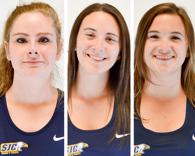 Women's Tennis' Burnett, Charrier and Panicola Land on Skyline All-Conference Teams