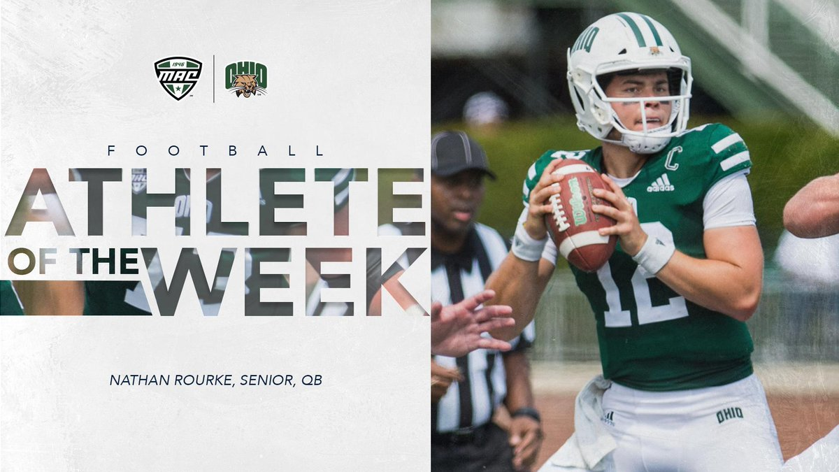 Ohio Football's Rourke Named MAC East Division Offensive Player of the Week