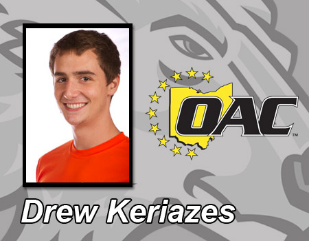 Drew Keriazes named OAC Men's Swimmer of the Week for second time this season