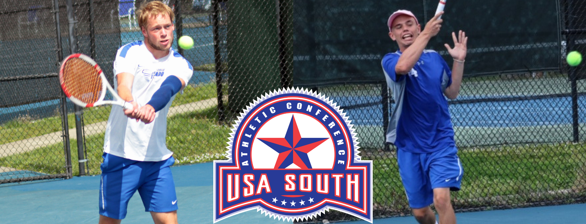 Tim Hengst and Tyler Frazee Sweep USA South Men's Tennis Weekly Awards