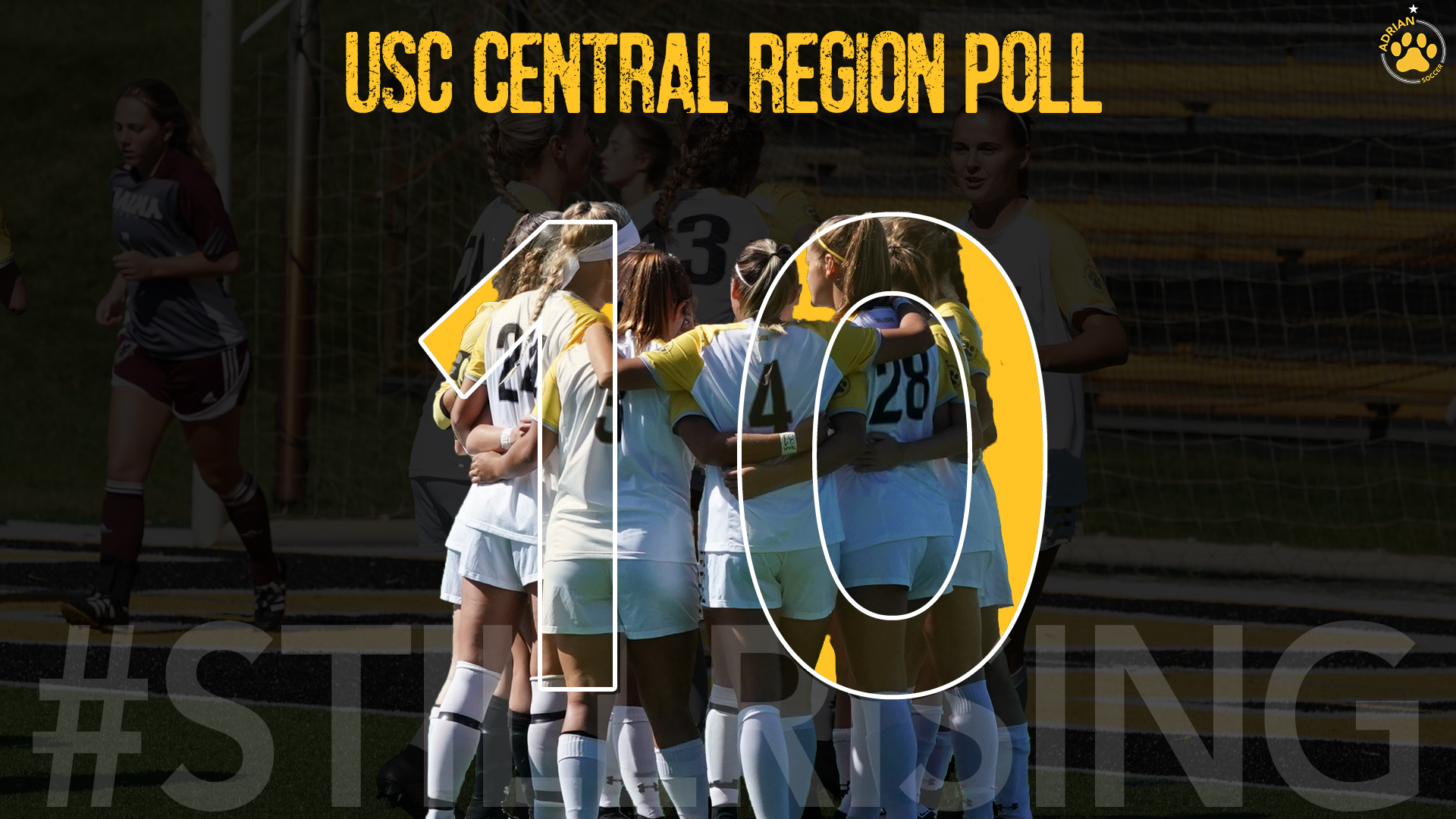 Women's Soccer Enters Central Region Poll at No. 10