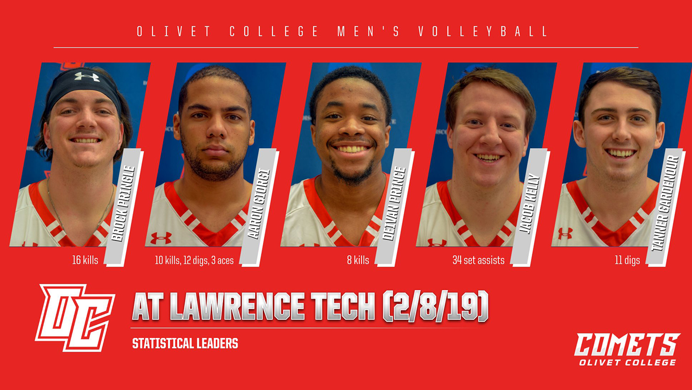 Men's volleyball team drops four-set match at Lawrence Tech