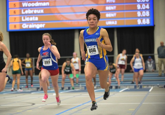 INDOOR TRACK CLOSES IN ON NATIONAL TIMES WITH NEW SCHOOL RECORDS