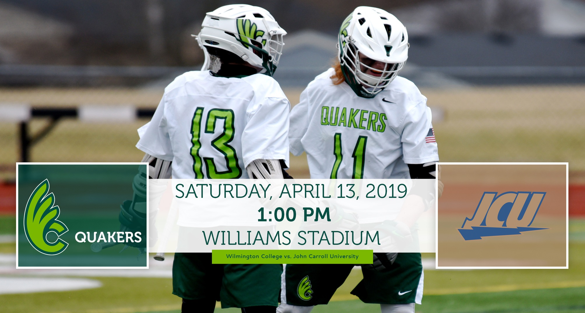 Men's Lacrosse Hosts John Carroll on Saturday