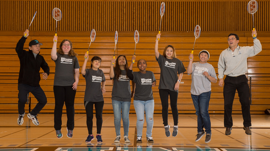 2017 Saints Badminton team.