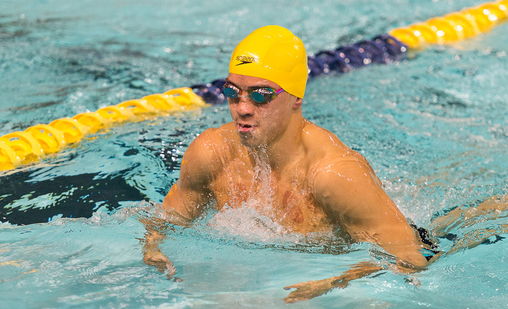 Men's Swimming & Diving Breezes to Senior Day Win Over Centre