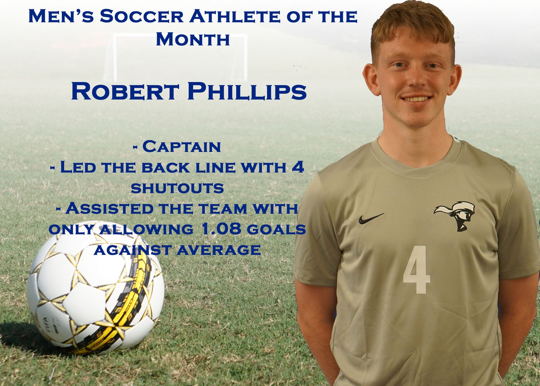 Men's Soccer Athlete of the Month