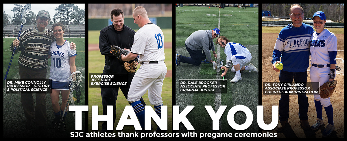 SJC Teams Honor Professors with Pre-Game Ceremonies