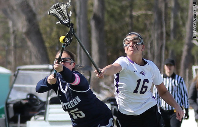 Women's Lacrosse Falls to 16th-Ranked Pace, 10-7