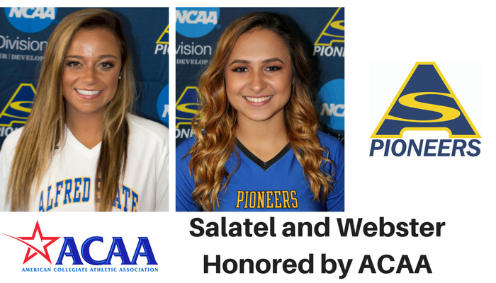 Michayla Salatel and Madison Webster honored by the ACAA