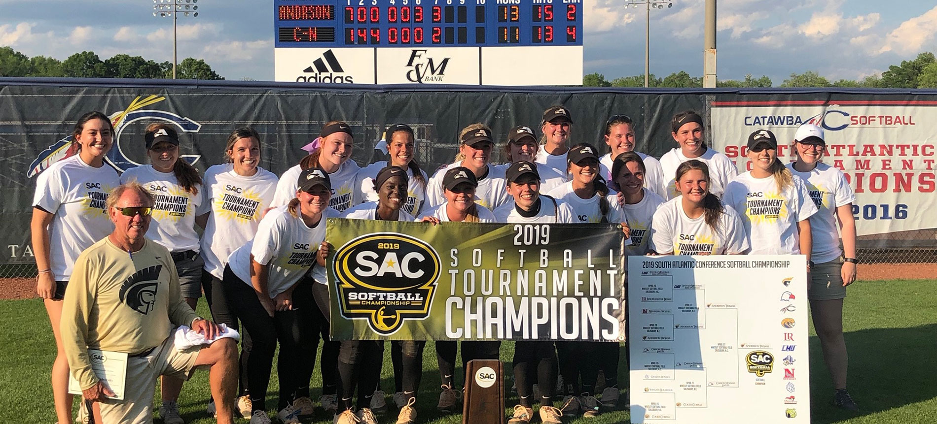 Fifth-Seeded Trojans Outplay Tourney Field to Earn South Atlantic Conference Tournament Title