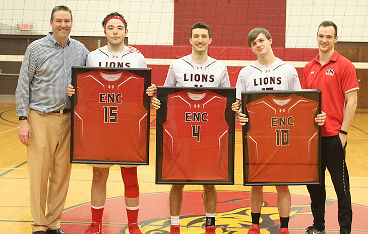 Men's Volleyball Defeats Dean, Falls to MIT on Senior Day