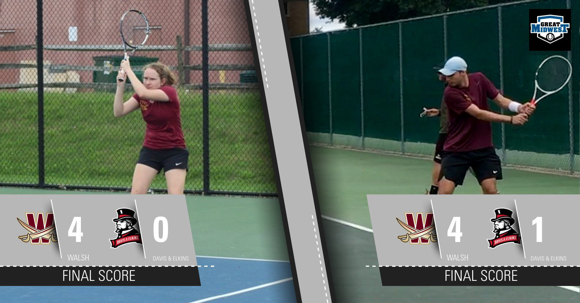 Men's and Women's Tennis Excel at D&E