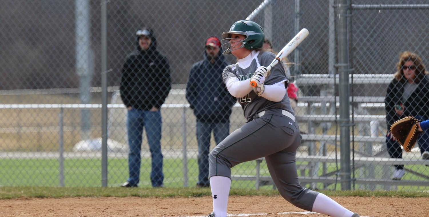 Katelyn Warren (22) went a combined 4-4 on Tuesday with 2 RBIs and 3 runs scored -- Photo by Veronica Ebert