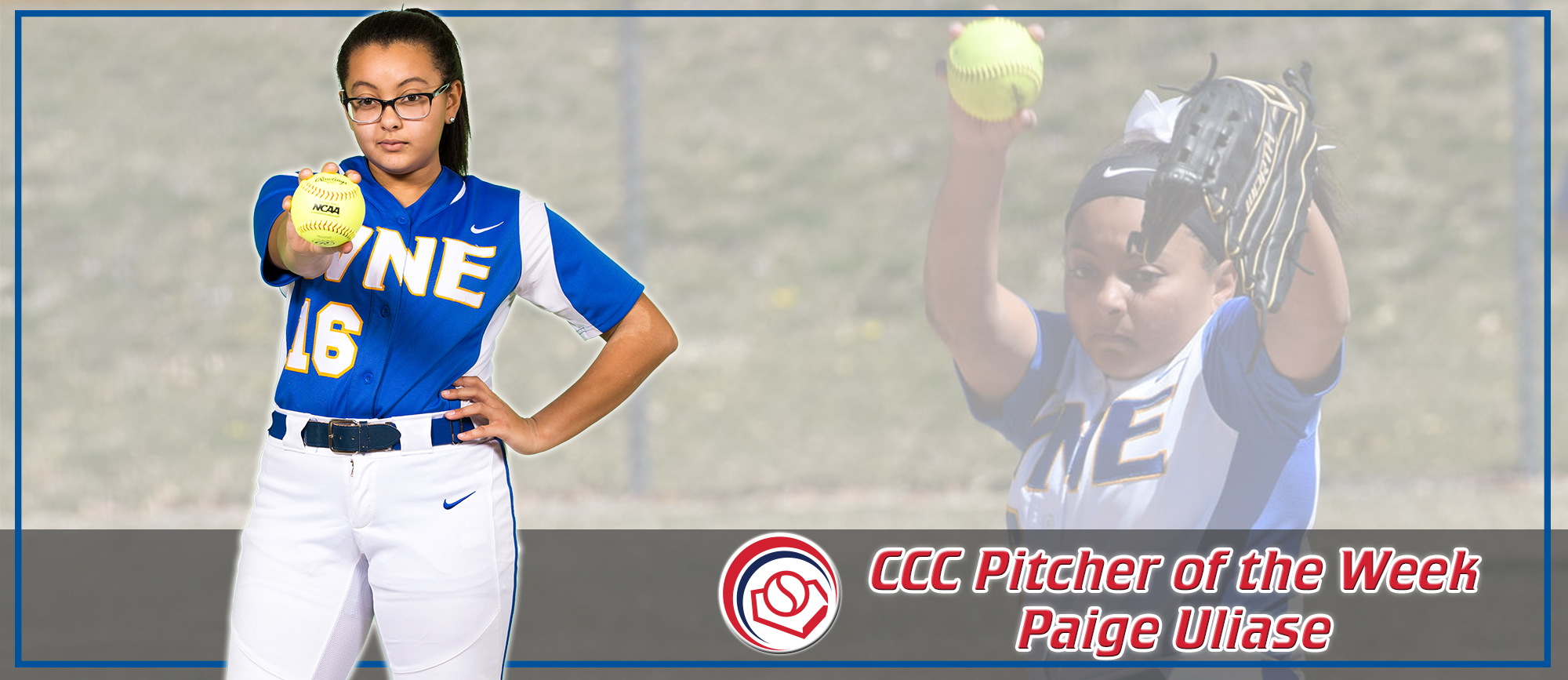 Paige Uliase Earns Third Career CCC Pitcher of the Week Honor