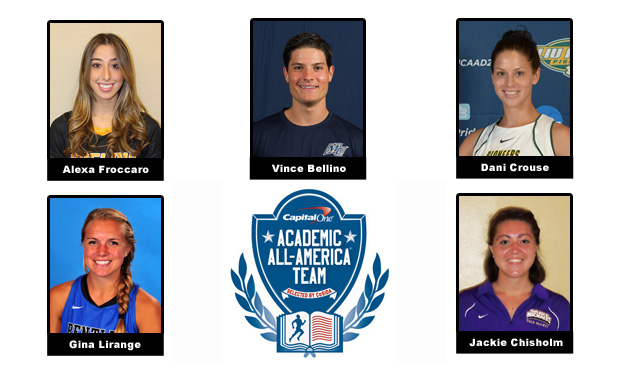 Five Northeast-10 Student-Athletes Named Capital One Academic All-Americans