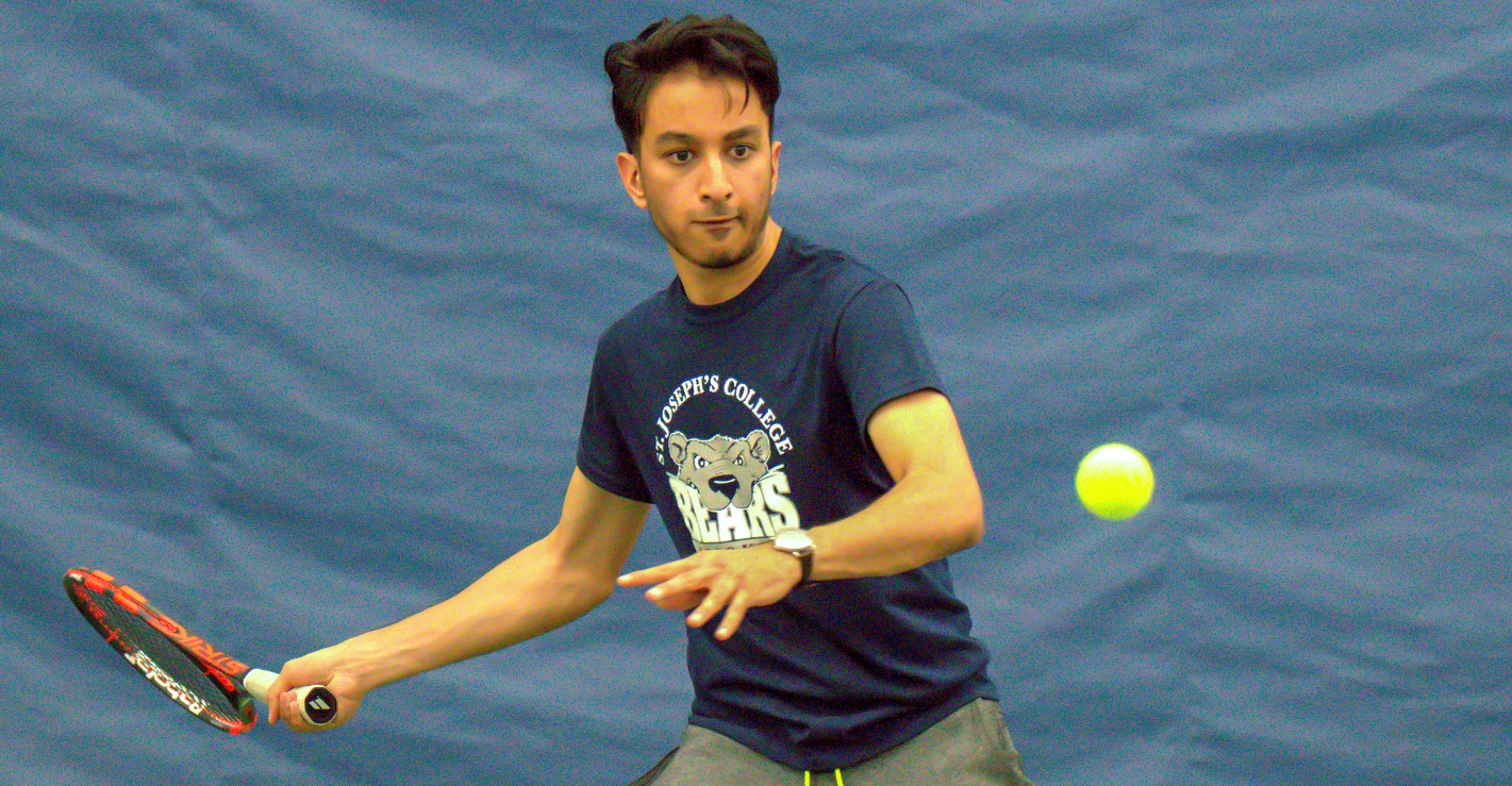 Ghai Wins Twice as Men's Tennis Edged by Sarah Lawrence