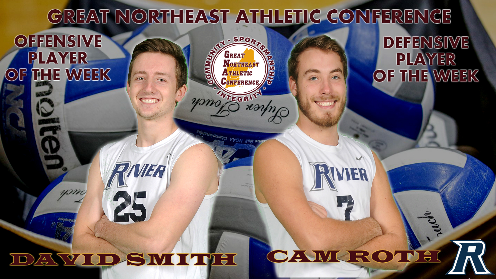 Men's Volleyball: Smith, Roth earn GNAC Offensive and Defensive Players of the Week.