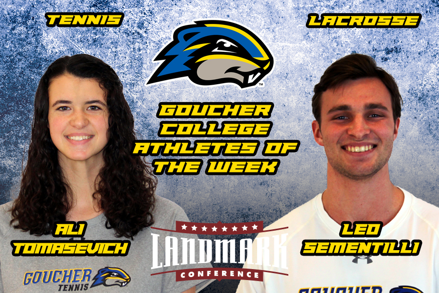 Tomasevich and Sementilli Named Goucher College Athletes of the Week