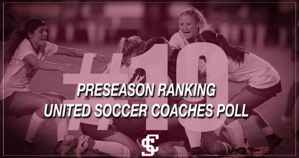 Women's Soccer Ranked No. 19 in Preseason United Soccer Coaches Poll