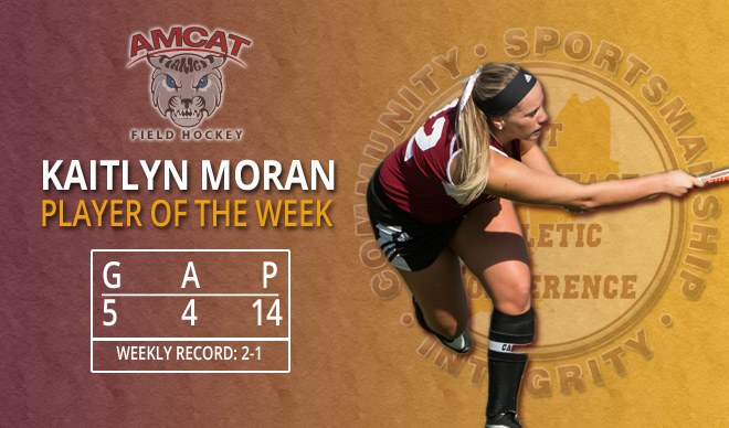 Moran Named GNAC Player of the Week for Third Time in 2016
