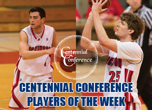 Adam Honig and Gerry Wixted were named Co-Centennial Conference Players of the Week, leading the Devils to the Championship over the weekend<BR>