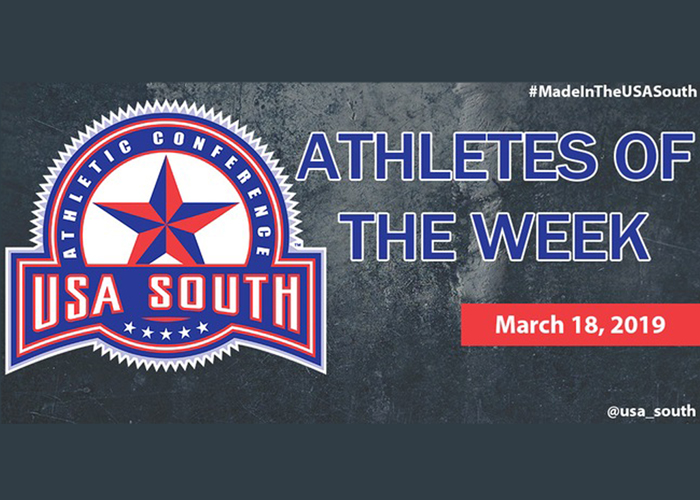 Murphy and Henry recognized as USA South Athletes of the Week