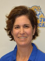 NEWVA Coach of the Year Nancy Somera from Johnson & Wales (R.I.)