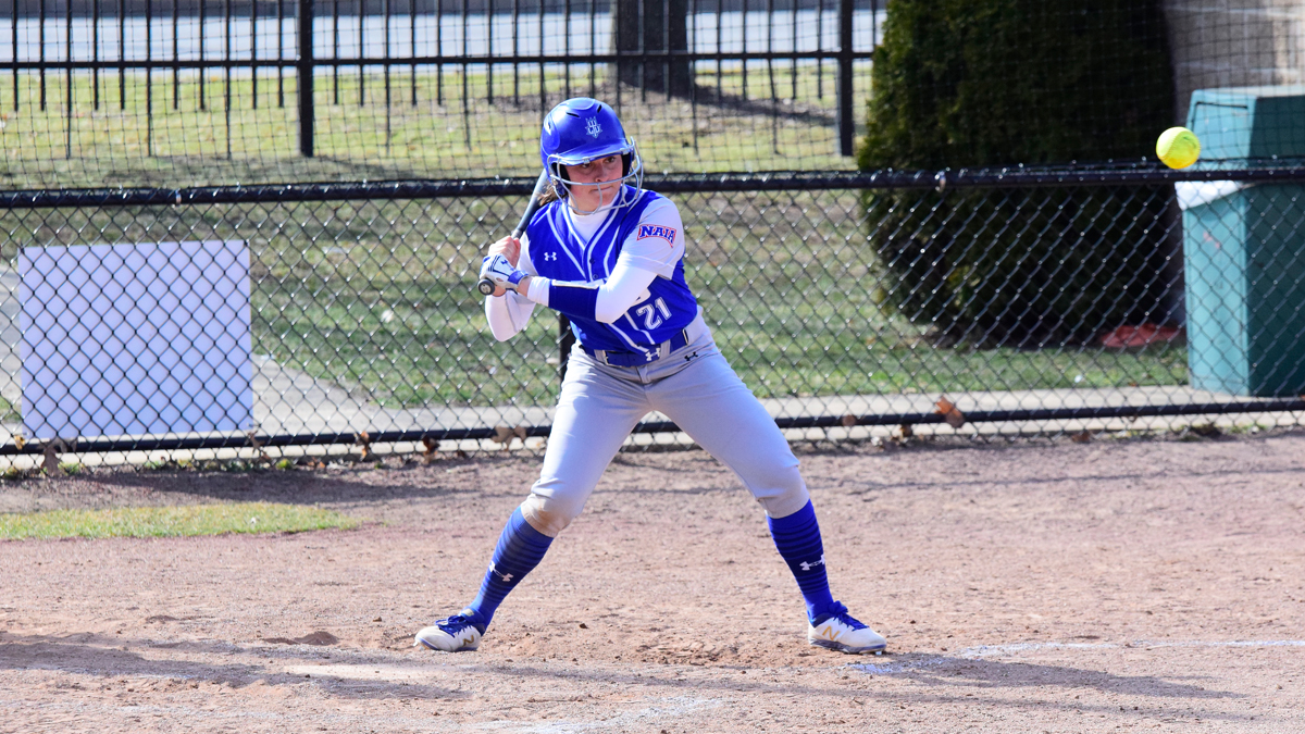 Blue Devils Split WHAC Doubleheader with Aquinas; Emmons Hits Two Homers in Game Two