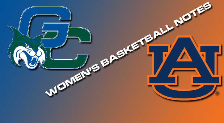Women's Basketball Notes vs. Auburn University