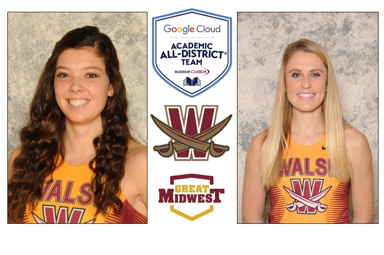 Barber, Berger Named to CoSIDA Academic All-District Team