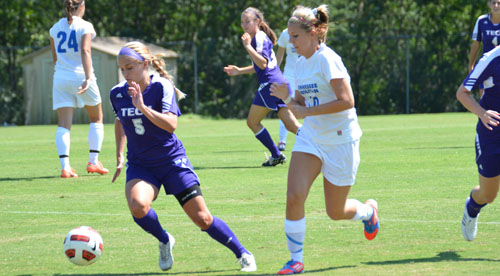 Soccer gets the ball rolling with 8-0 exhibition win at Tennessee Wesleyan