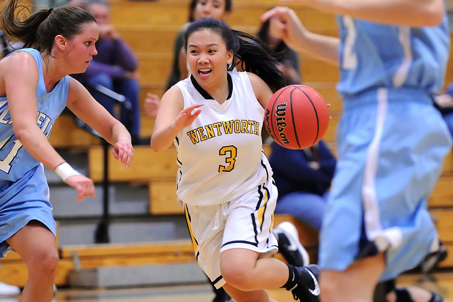 Women's Basketball Races to First Victory
